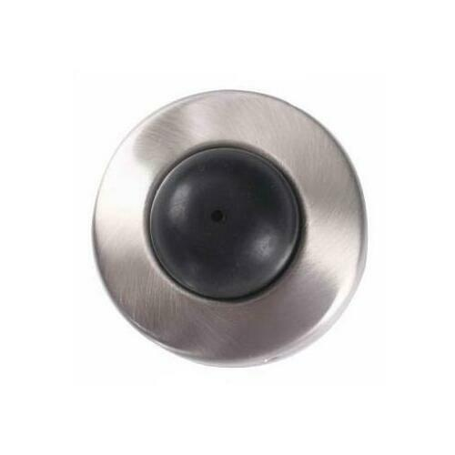 A'dor WS3.619 Wall Stop Convex Rubber, Satin Nickel, Clear Coated