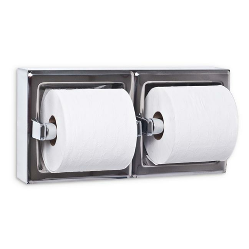 AJW UX75-BF-SM Dual Bright Toilet Tissue Dispenser - Surface Mounted