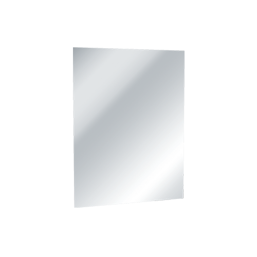 ASI 8026-4824 Mirror - Frameless, Stainless Steel w/ Masonite Backing - Type 304, Polished #8 Mirror Finish - 48