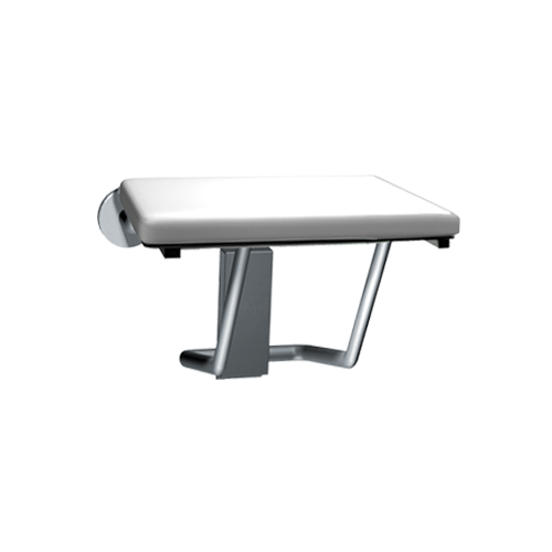 ASI 8204 Folding Shower Seat, Rectangular Padded Seat With Phenolic Core – Compact 18
