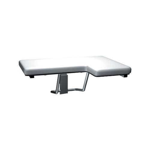 ASI 8205-L Folding Shower Seat, Padded – L Shaped – Left Hand, Ada
