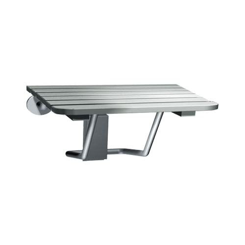 ASI 8207 Folding Shower Seat, Stainless Steel, Ada
