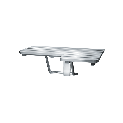 ASI 8208-L Folding Shower Seat, Stainless Steel – Left Hand, Ada