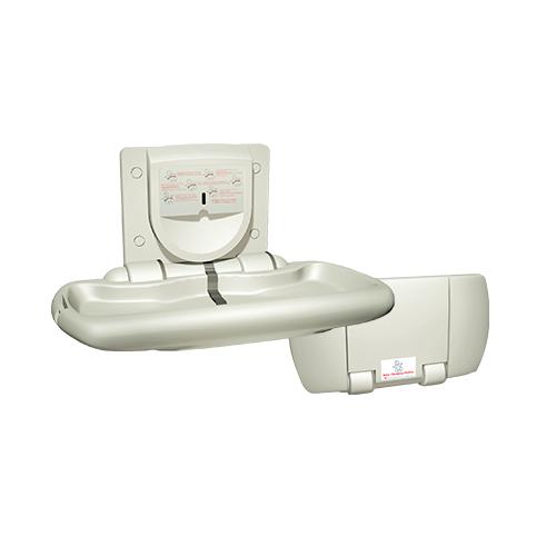 ASI 9012 Baby Changing Station, Horizontal – Plastic, Surface Mounted