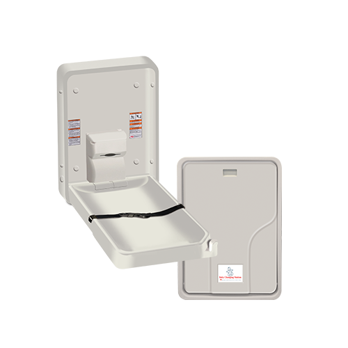 ASI 9015 Baby Changing Station, Vertical – Plastic, Surface Mounted