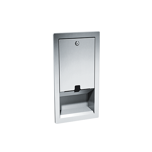 ASI 9016 Baby Changing Station, Bed Liner Dispenser – Recessed