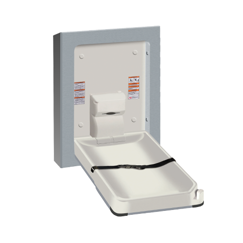 ASI 9017-9 Baby Changing Station, Vertical – Stainless Steel, Surface Mounted