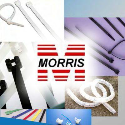 Morris 73512 LED Exit Sign Red LED White Housing Battery Backup Self Diagnostic