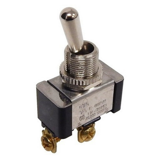 Morris 70250 Heavy Duty Momentary Contact Toggle Switch SPST (On)-Off Screw Terminals