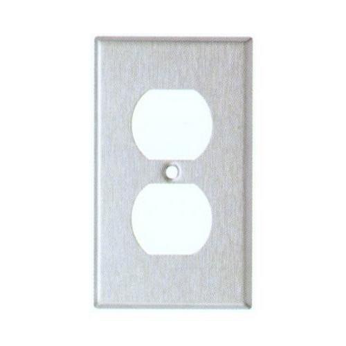 Morris 83210 430 Stainless Steel Wall Plates 1 Gang Duplex Receptacle