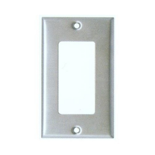 Morris 83740 430 Stainless Steel Wall Plates Oversize 1 Gang Decorative/GFCI