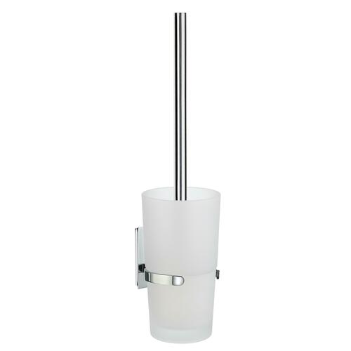 Smedbo ZK333 Toilet Brush with Frosted Glass Container