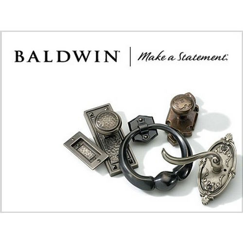 Baldwin 85320050LENT Madison Sectional Tubular Left Hand Single Cylinder Handleset Antique Brass Finish