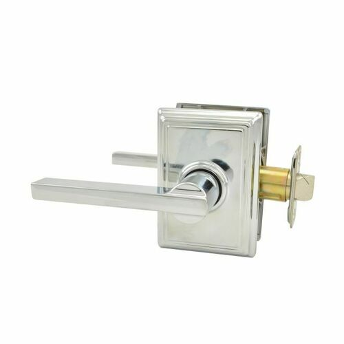 Schlage F10LAT625ADD Latitude Lever with Addison Rose Passage Lock with 16080 Latch and 10027 Strike Bright Chrome Finish